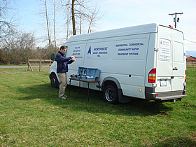 On-site well water testing and analysis with our portable lab